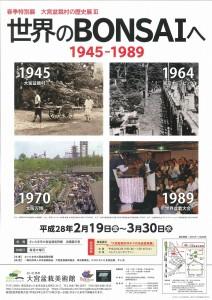 大宮盆栽村の歴史展Ⅲ